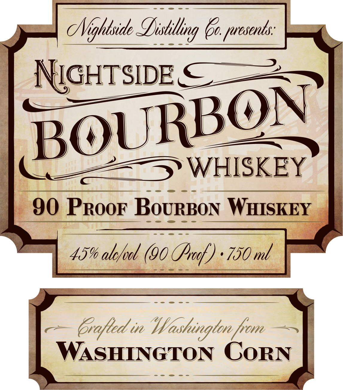 Bourbon Label Front