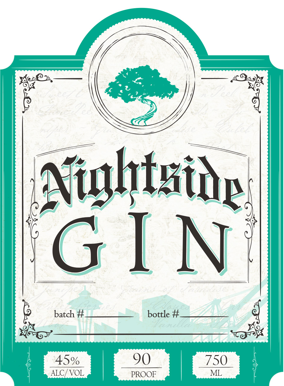 Gin Label Front for TTB